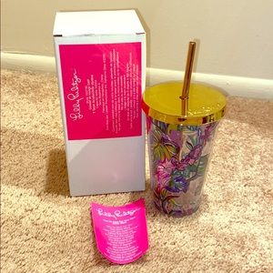 NIB Lilly Pulitzer Travel Tumbler Mermaid in Shade